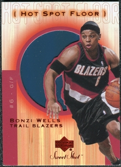 2001/02 Upper Deck Sweet Shot Hot Spot Floor #BWF Bonzi Wells
