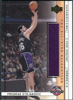 2001/02 Upper Deck NBA All-Star Authentics #PSAS Peja Stojakovic