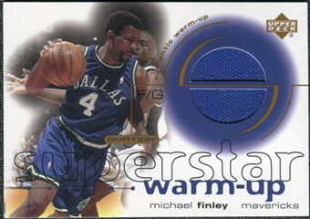2001/02 Upper Deck Ovation Superstar Warm-Ups #MF Michael Finley