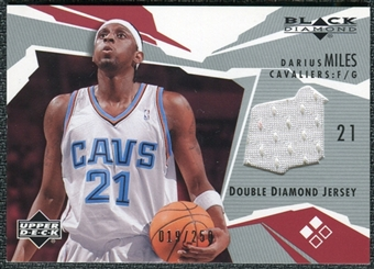 2003/04 Black Diamond Jerseys Double Diamond #BD2DM Darius Miles