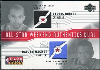 2003/04 Upper Deck All-Star Weekend Authentics Dual #CBDW Carlos Boozer DaJuan Wagner