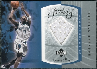 2002/03 Sweet Shot Sweet Swatches #TBS Terrell Brandon