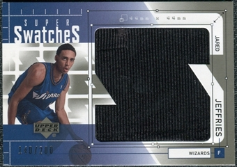 2002/03 Upper Deck Super Swatches Jerseys #JJS Jared Jeffries