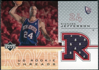 2001/02 Upper Deck Rookie Threads #RJT Richard Jefferson