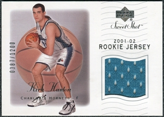 2001/02 Sweet Shot Rookie Memorabilia #95 Kirk Haston
