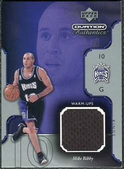2002/03 Upper Deck Ovation Authentics Warm-Ups #MBW Mike Bibby