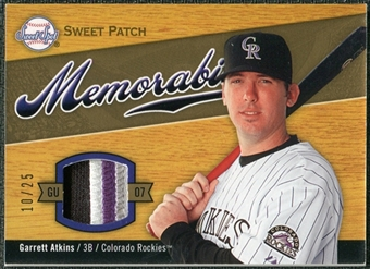 2007 Upper Deck Sweet Spot Sweet Swatch Memorabilia Patch #AT Garrett Atkins 10/25
