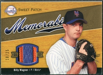 2007 Upper Deck Sweet Spot Sweet Swatch Memorabilia Patch #BW Billy Wagner 18/25