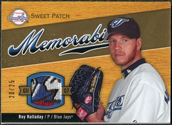 2007 Upper Deck Sweet Spot Sweet Swatch Memorabilia Patch #HA Roy Halladay /25