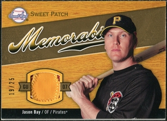 2007 Upper Deck Sweet Spot Sweet Swatch Memorabilia Patch #JB Jason Bay 19/25