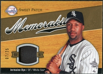 2007 Upper Deck Sweet Spot Sweet Swatch Memorabilia Patch #JD Jermaine Dye /25