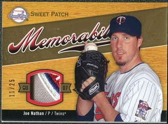 2007 Upper Deck Sweet Spot Sweet Swatch Memorabilia Patch #JN Joe Nathan /25