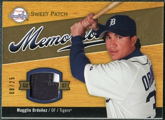2007 Sweet Spot Sweet Swatch Memorabilia Patch #OR Magglio Ordonez /25