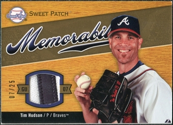 2007 Upper Deck Sweet Spot Sweet Swatch Memorabilia Patch #TH Tim Hudson /25