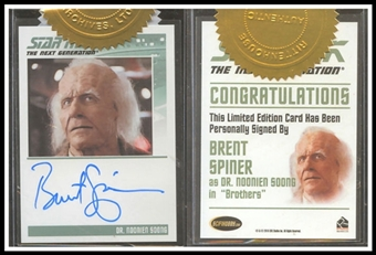 The Complete Star Trek The Next Generation Autographs #59 Brent Spiner as Dr. Soong (Rittenhouse 2011)