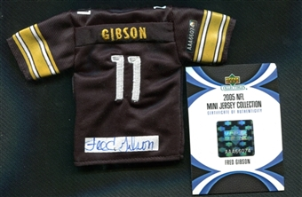 2005 Upper Deck UD Mini Jersey Collection Replica Jerseys Autographs #FG Fred Gibson