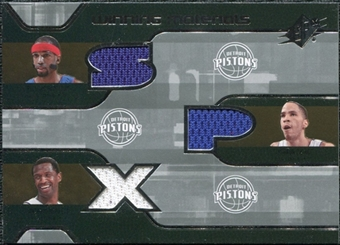 2007/08 Upper Deck SPx Winning Materials Triples #HPM Richard Hamilton Tayshaun Prince Antonio McDyess