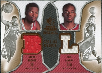 2007/08 Upper Deck SP Rookie Threads Dual #LB Aaron Brooks Carl Landry