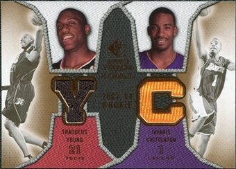 2007/08 Upper Deck SP Rookie Threads Dual #YC Thaddeus Young Javaris Crittenton