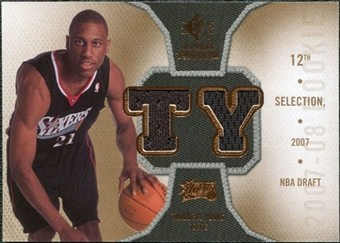 2007/08 Upper Deck SP Rookie Threads Rookie Threads #RTTY Thaddeus Young