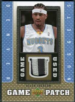 2007/08 Upper Deck UD Game Patch #AI Allen Iverson