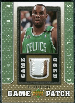 2007/08 Upper Deck UD Game Patch #AJ Al Jefferson