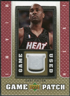 2007/08 Upper Deck UD Game Patch #GP Gary Payton
