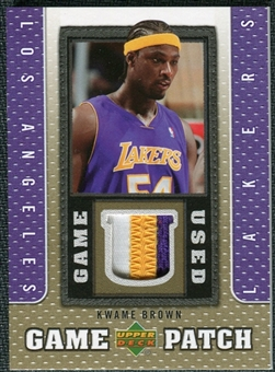 2007/08 Upper Deck UD Game Patch #KW Kwame Brown