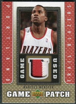 2007/08 Upper Deck UD Game Patch #MW Martell Webster