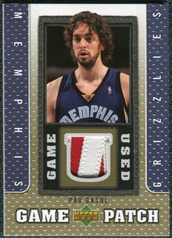 2007/08 Upper Deck UD Game Patch #PG Pau Gasol