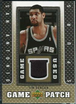 2007/08 Upper Deck UD Game Patch #TD Tim Duncan