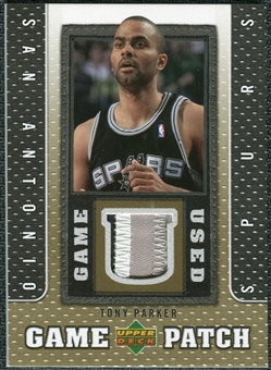 2007/08 Upper Deck UD Game Patch #TP Tony Parker