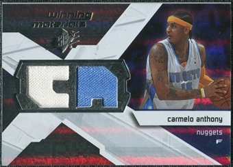 2008/09 Upper Deck SPx Winning Materials #WMICA Carmelo Anthony