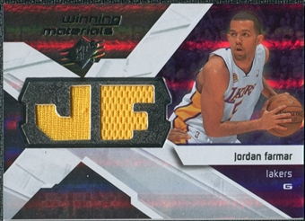 2008/09 Upper Deck SPx Winning Materials #WMIJF Jordan Farmar