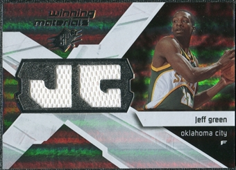 2008/09 Upper Deck SPx Winning Materials #WMIJG Jeff Green