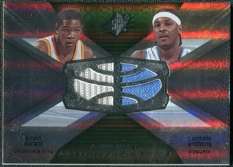2008/09 Upper Deck SPx Winning Materials Combos #WMCAD Kevin Durant Carmelo Anthony