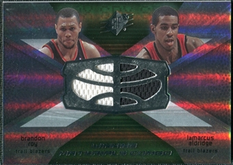 2008/09 Upper Deck SPx Winning Materials Combos #WMCAR Brandon Roy LaMarcus Aldridge