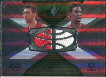 2008/09 Upper Deck SPx Winning Materials Combos #WMCBB Andrea Bargnani Chris Bosh