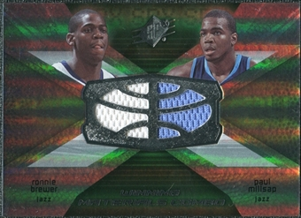 2008/09 Upper Deck SPx Winning Materials Combos #WMCBM Ronnie Brewer Paul Millsap