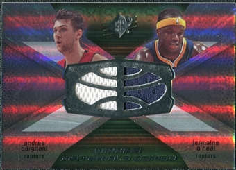 2008/09 Upper Deck SPx Winning Materials Combos #WMCBO Andrea Bargnani Jermaine O'Neal