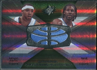 2008/09 Upper Deck SPx Winning Materials Combos #WMCCN Kenyon Martin Nene