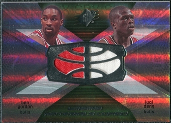 2008/09 Upper Deck SPx Winning Materials Combos #WMCGD Ben Gordon Luol Deng