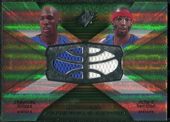 2008/09 Upper Deck SPx Winning Materials Combos #WMCHB Chauncey Billups Richard Hamilton