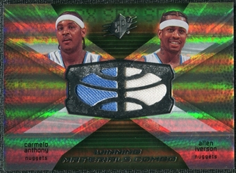 2008/09 Upper Deck SPx Winning Materials Combos #WMCIA Carmelo Anthony Allen Iverson