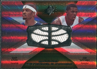 2008/09 Upper Deck SPx Winning Materials Combos #WMCJS Josh Smith Joe Johnson