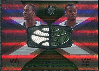 2008/09 Upper Deck SPx Winning Materials Combos #WMCLH Dwight Howard Rashard Lewis