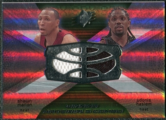 2008/09 Upper Deck SPx Winning Materials Combos #WMCMH Shawn Marion Udonis Haslem