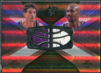 2008/09 Upper Deck SPx Winning Materials Combos #WMCMS John Stockton Karl Malone