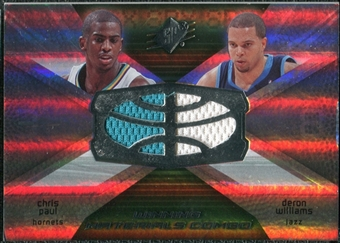2008/09 Upper Deck SPx Winning Materials Combos #WMCPW Chris Paul Deron Williams
