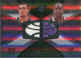2008/09 Upper Deck SPx Winning Materials Combos #WMCPY Nick Young Oleksiy Pecherov